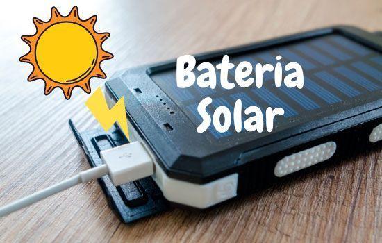 batería solar senderismo